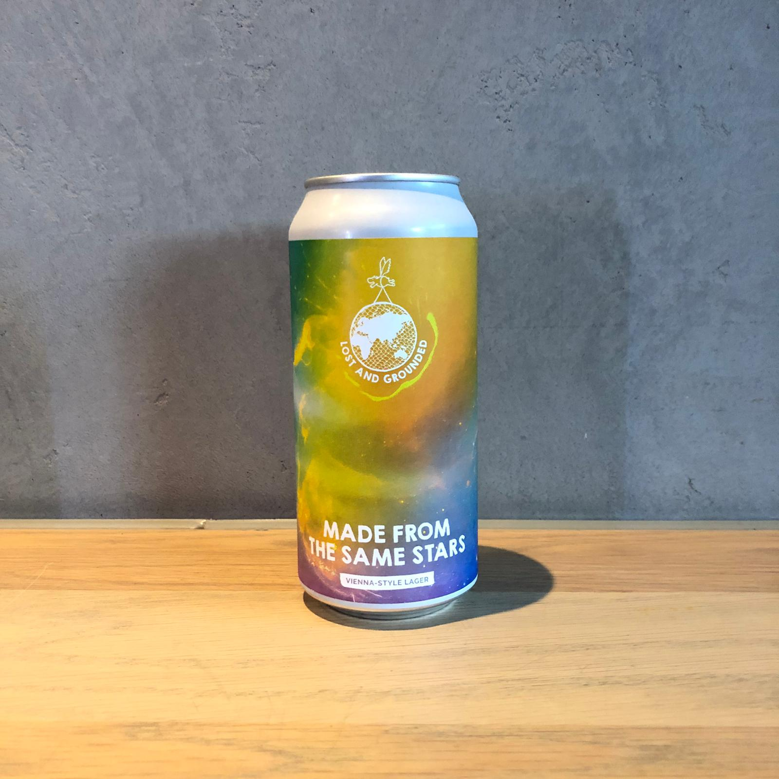 Lost and grounded Made from the same stars Lager 4.8% 440ml